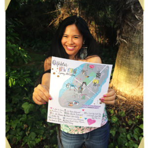Krista Suh with her New York Map