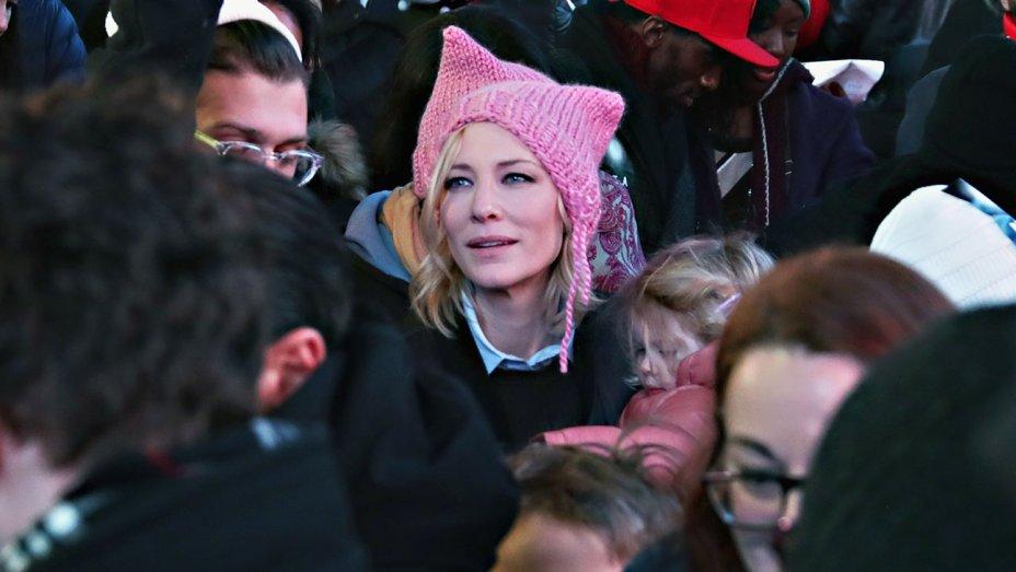 Cate Blanchett Wearing a Pussyhat