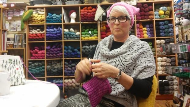 Kelowna knitters join 'Pussyhat' movement