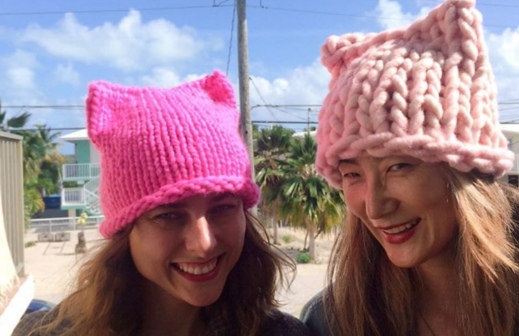 Women knit thousands of 'pussy power hats' to support the Women's March on Washington