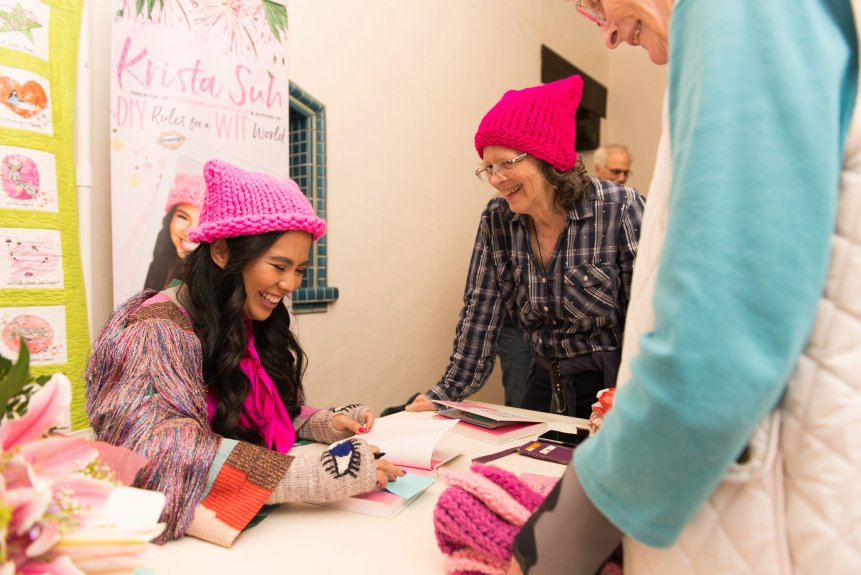 Pussyhat creator Krista Suh on knitting a community together in Scripps event