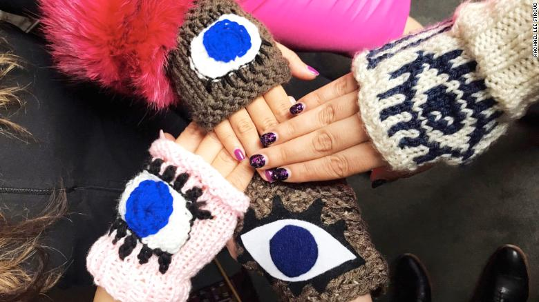 Why you'll see a lot of 'evil eye' gloves at the March For Our Lives