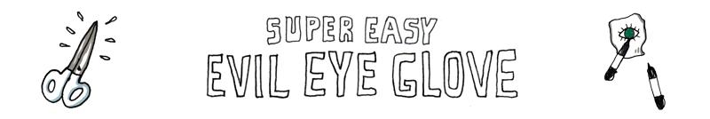 Evil Eye Glove Sock Pattern