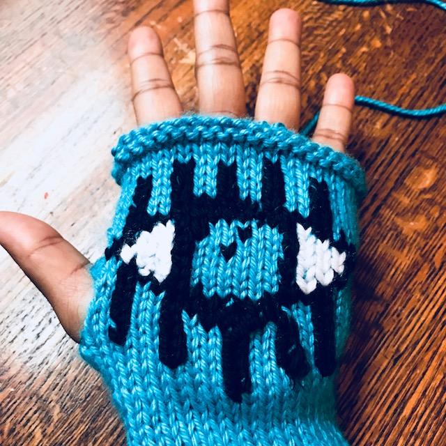 Evil Eye Glove Knit Pattern by Knitting Politics