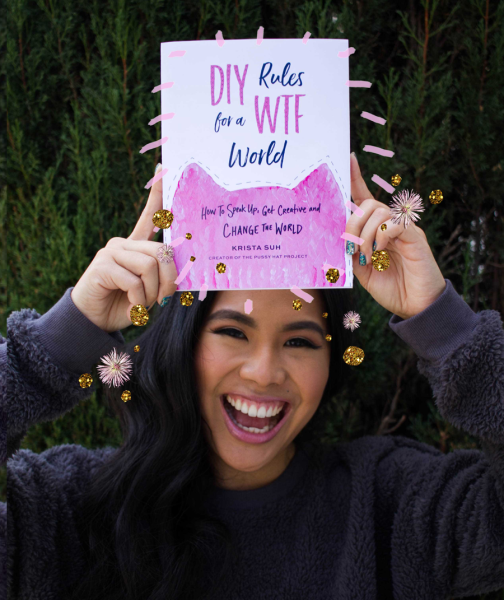 """Can We Be Both Feminine and Feminist? Host Corinne Frugoni Interviews Krista Suh, Creator Of The Pussy Hat Project And Author Of """"DIY Rules For A WTF World."""""""