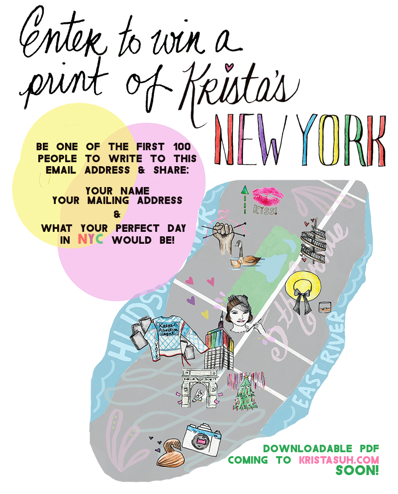 Krista Suh New York Map Coming Soon