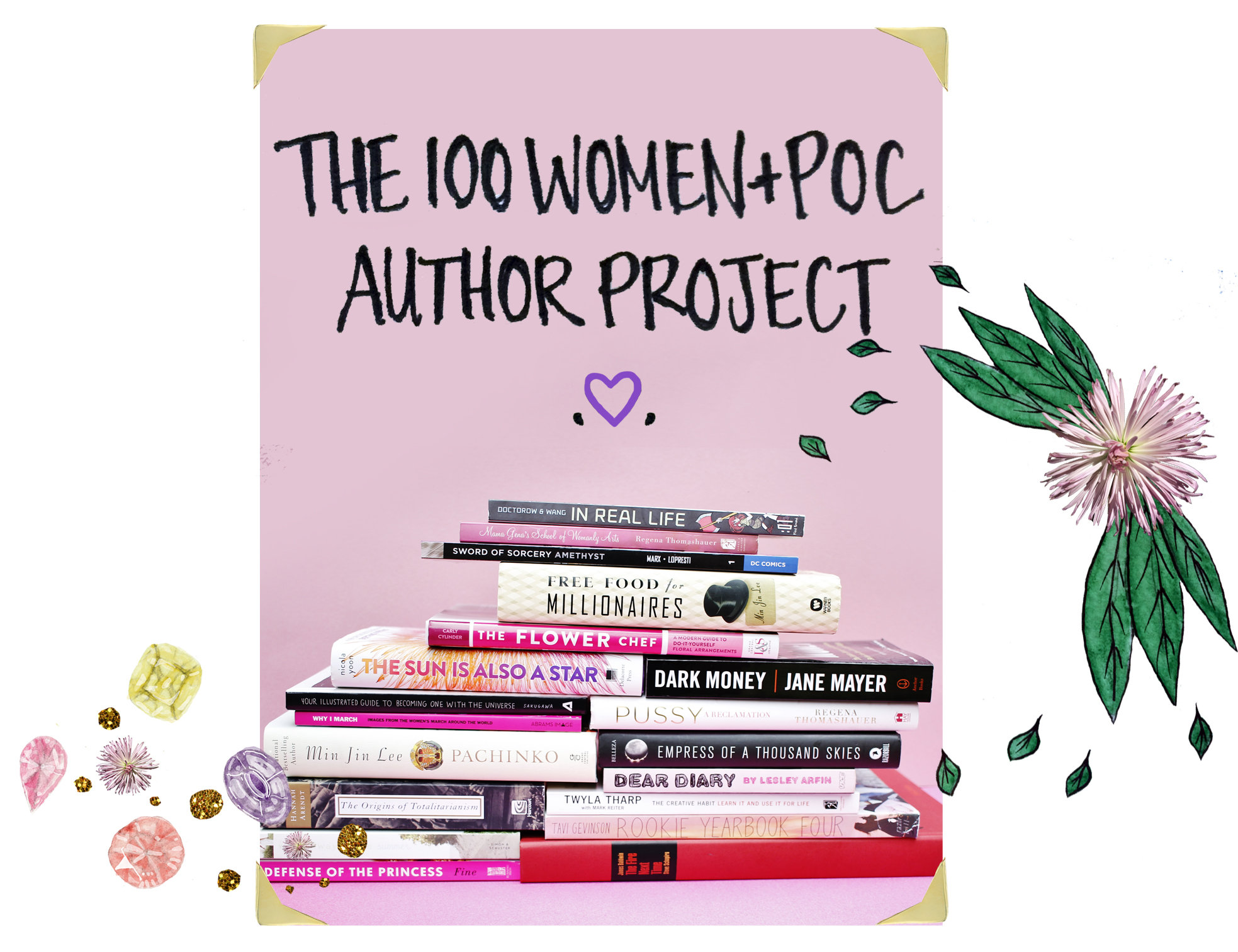 100 Women + POC Author Project: <br />Bookplates #1-20
