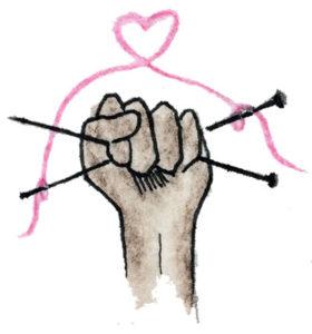 Knitty City NYC Resistance Illustration