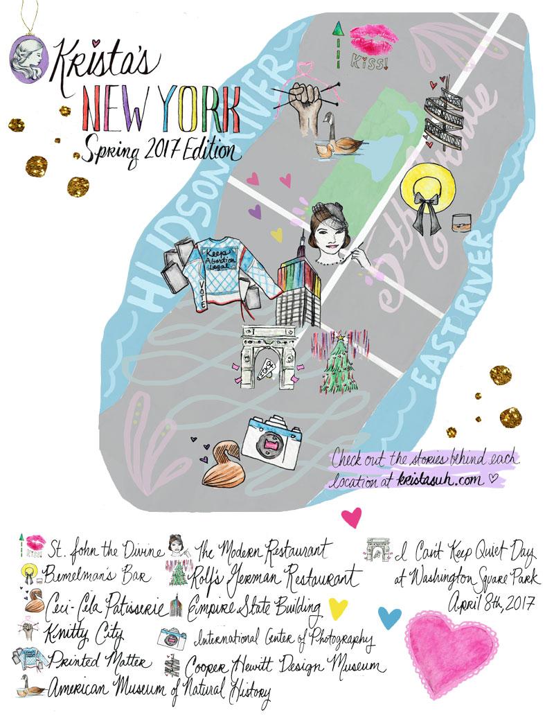 Krista Suh New York City Map