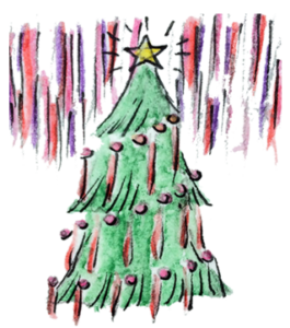 Rolf's NYC Illustrated Christmas Tree