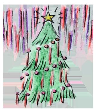 Rolf's NYC Illustrated Christmas Tree
