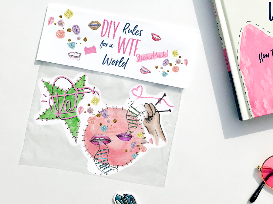 Free sticker pack when you pre-order DIY Rules for a WTF world