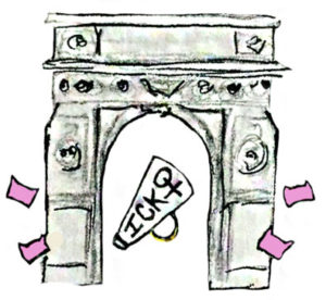 Washington Square Park Illustrated Arch