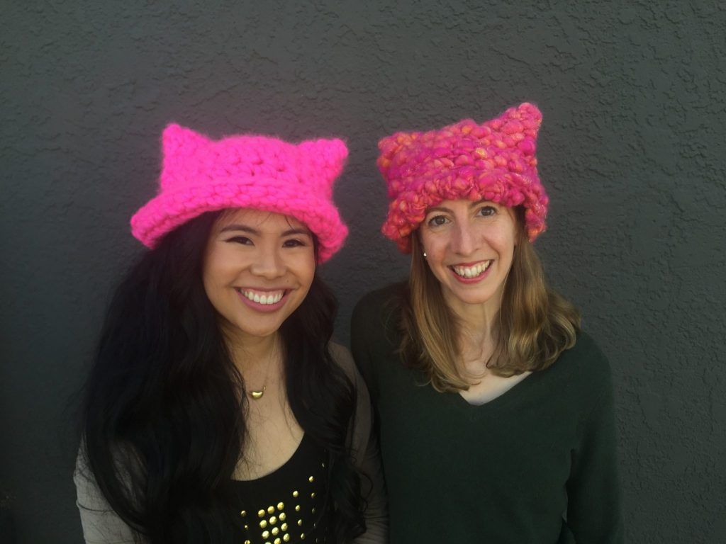 Pussyhat Project co-founders Krista Suh, a screenwriter, and Jayna Zweiman, an architect, both based in Los Angeles (photo: Breelyn Burns).
