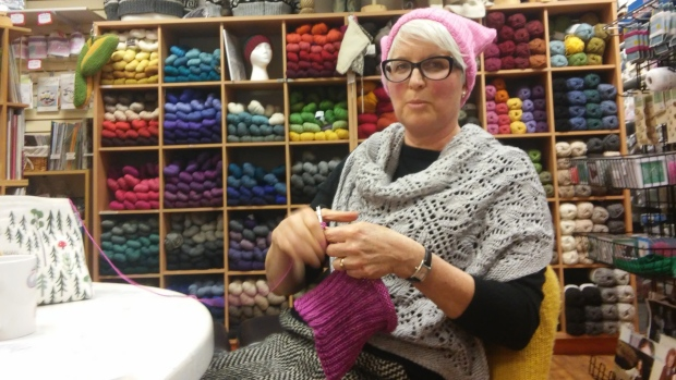 Kelowna knitters join 'Pussyhat' movement