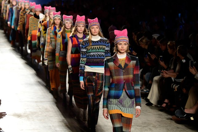 Missoni Models Walking in Pussyhats