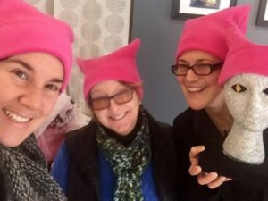 Women's March cat hats from Central Pa. benefit Planned Parenthood