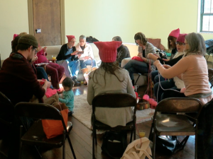 Pussyhat Project: Local group knits hats to support women's rights