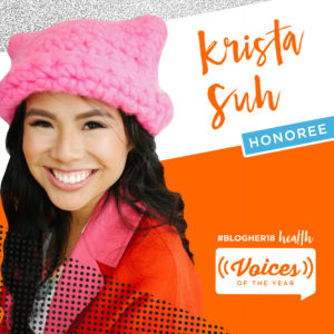 Krista Suh Recognized as BlogHer Voices of the Year Honoree