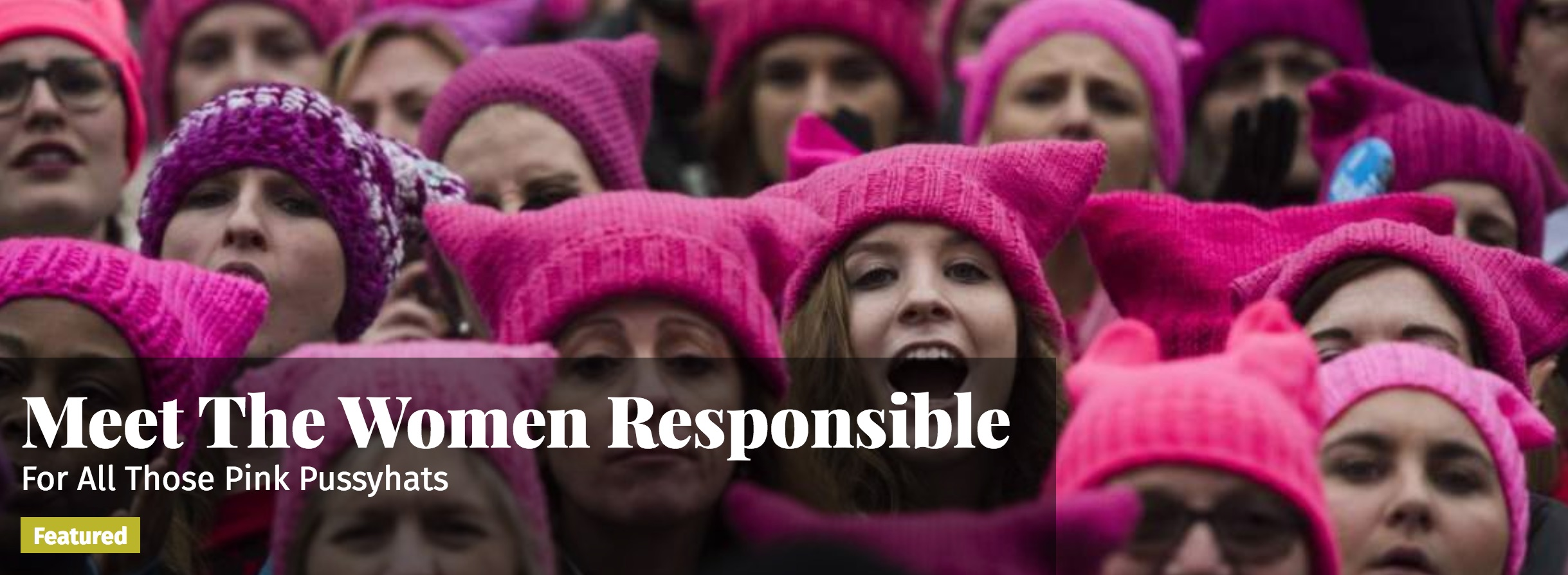 Meet The Women Responsible For All Those Pink Pussyhats