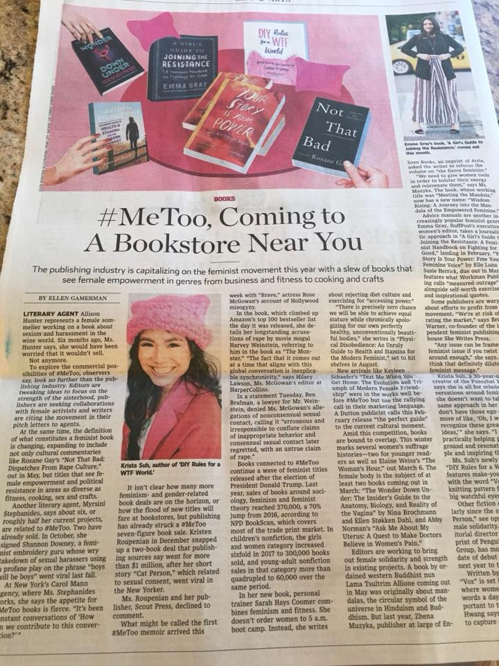#MeToo, Coming to a Bookstore Near You