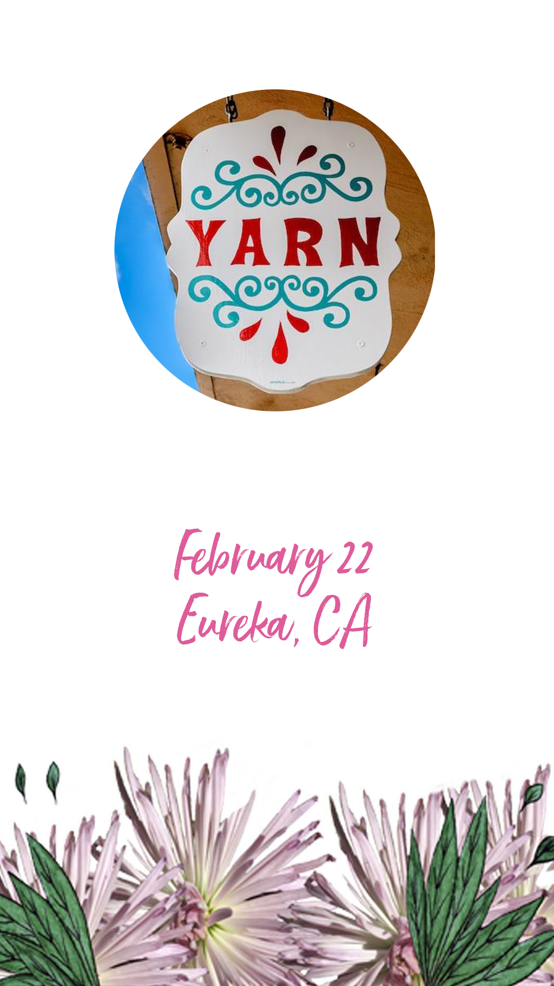 Book Signing at Yarn Eureka, CA