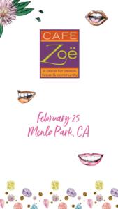 Book Signing at Cafe Zoë Menlo Park, CA