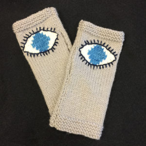 Evil Eye Glove Intarsia Pattern by Kathy Vincent