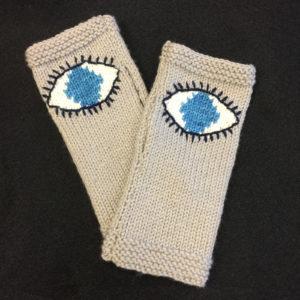 Evil Eye Glove Intarsia Pattern by Kathy Vincent