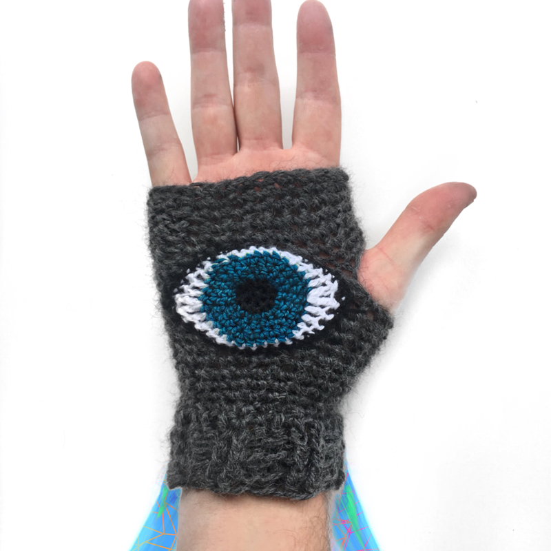 Evil Eye Glove Crochet Pattern by Quayln Stark