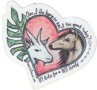 Horse Goat Sticker