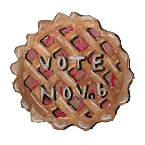 Vote Nov 6 Pie