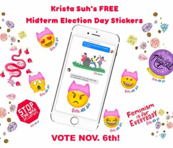 Krista Suh's FREE Midterm Election Day Stickers