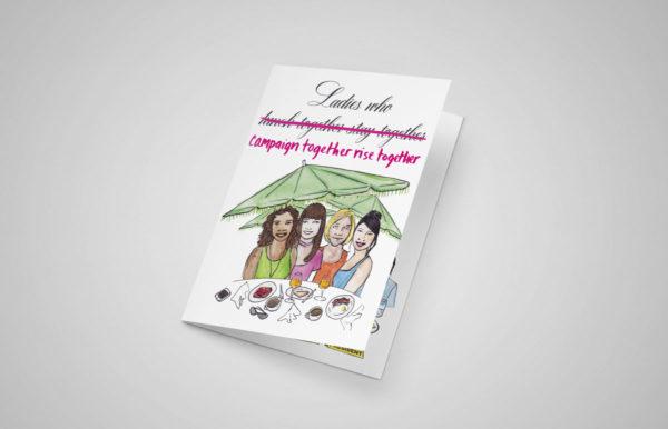 Ladies Who Campaign Together Greeting Cards