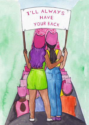 I'll Always Have Your Back Greeting Card