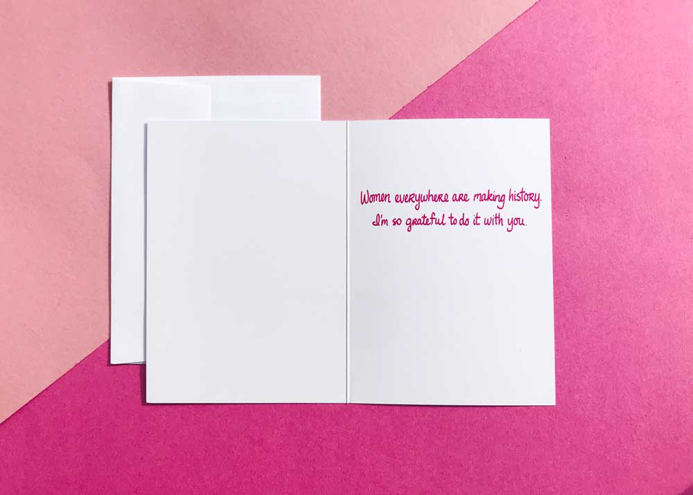 Womens March Buddy 5x7 Greeting Card