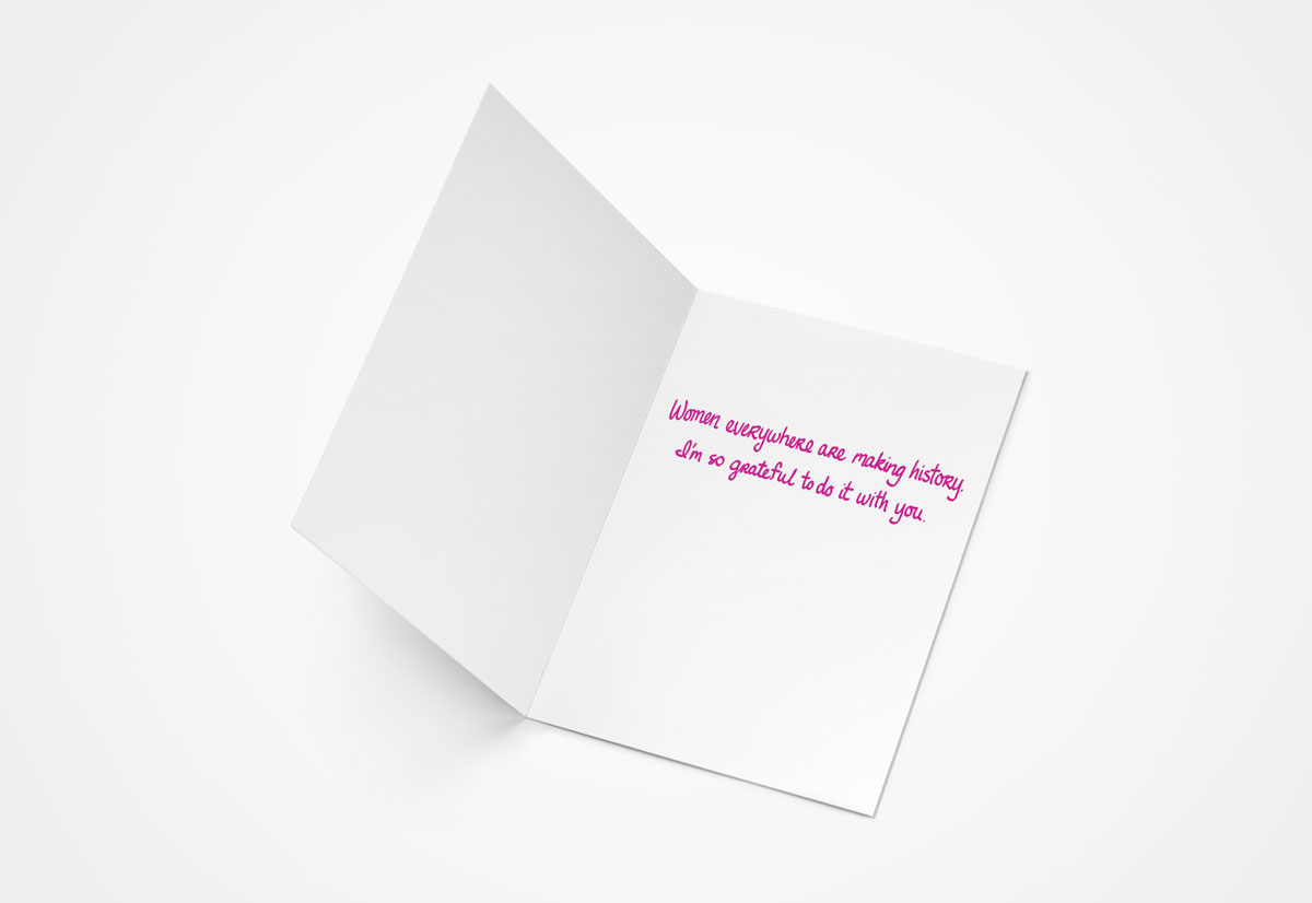 Will You Be My Women's March Buddy Greeting Card