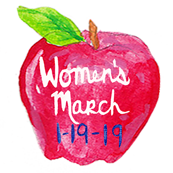 Women's march sticker app