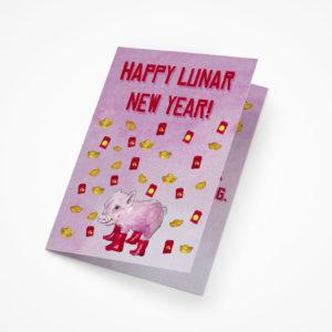 Lunar New Year 2019 5x7 Greeting Cards