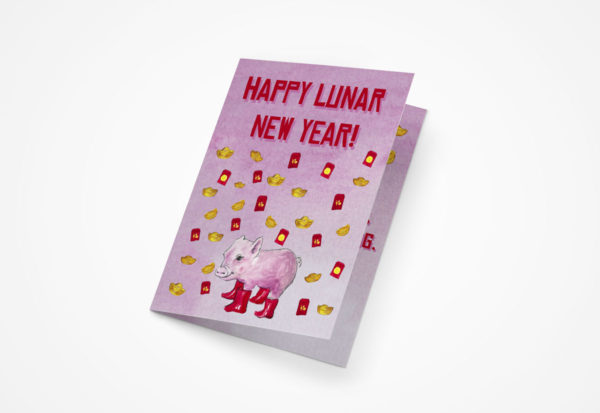 Lunar New Year 2019 5x7 Greeting Cards