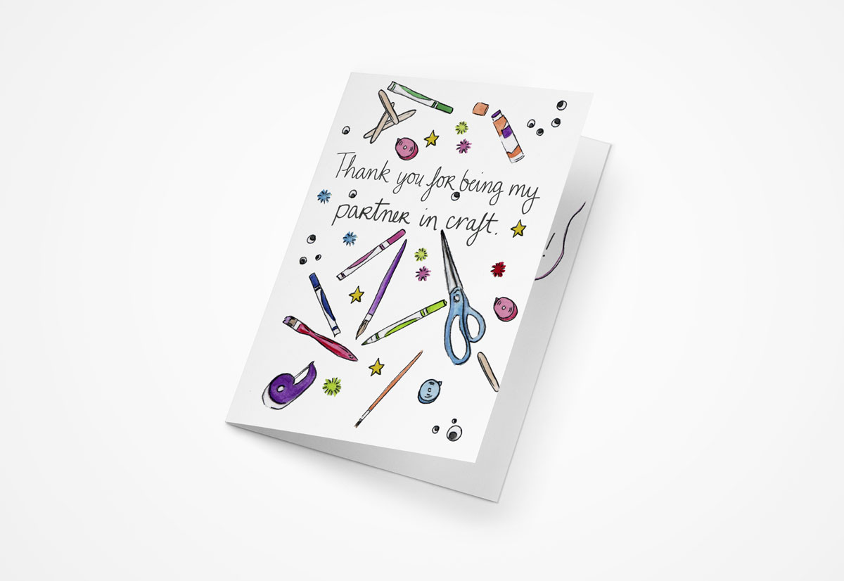 Partner in Craft Galentines Day 5x7 Greeting Cards