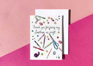 Partner in Craft 5x7 Greeting Card
