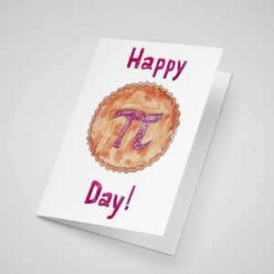 Happy Pi Day 5x7 Greeting Card