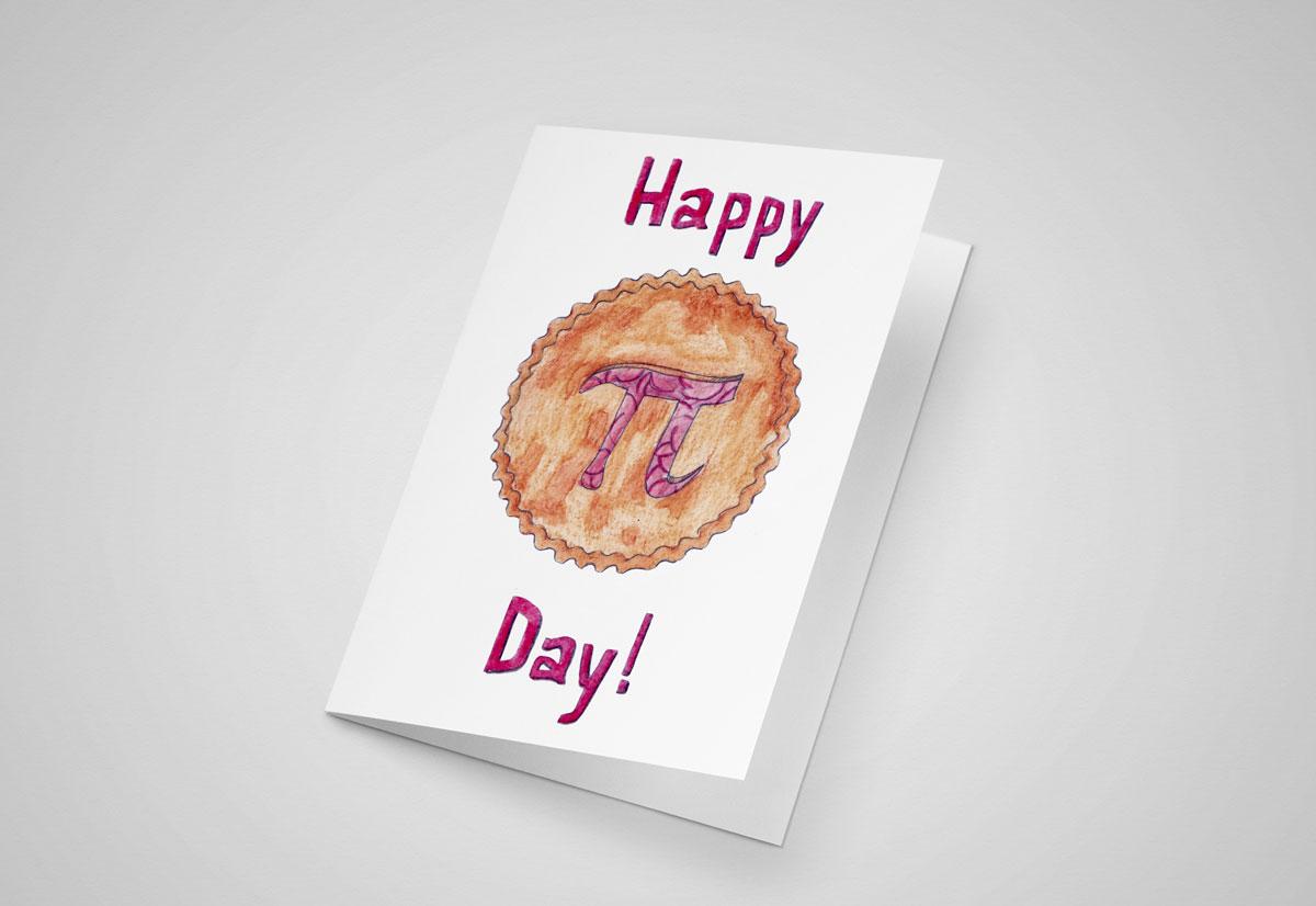 Happy Pi Day 5x7 Greeting Card
