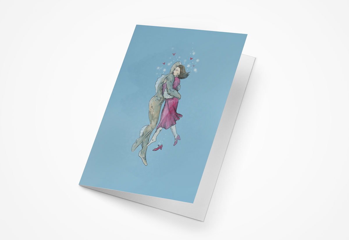 Shape of Water 5x7 Greeting Card