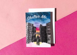 Shelter Me 5x7 Greeting Card