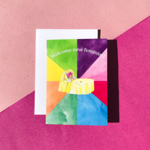 Welcome New Feminist 5×7 Greeting Card