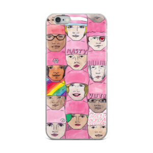 Women's March Faces iPhone Cases