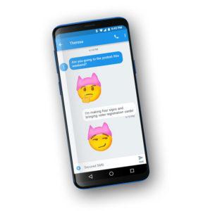 Krista Suh's Pink Hat Emojis (Android)
