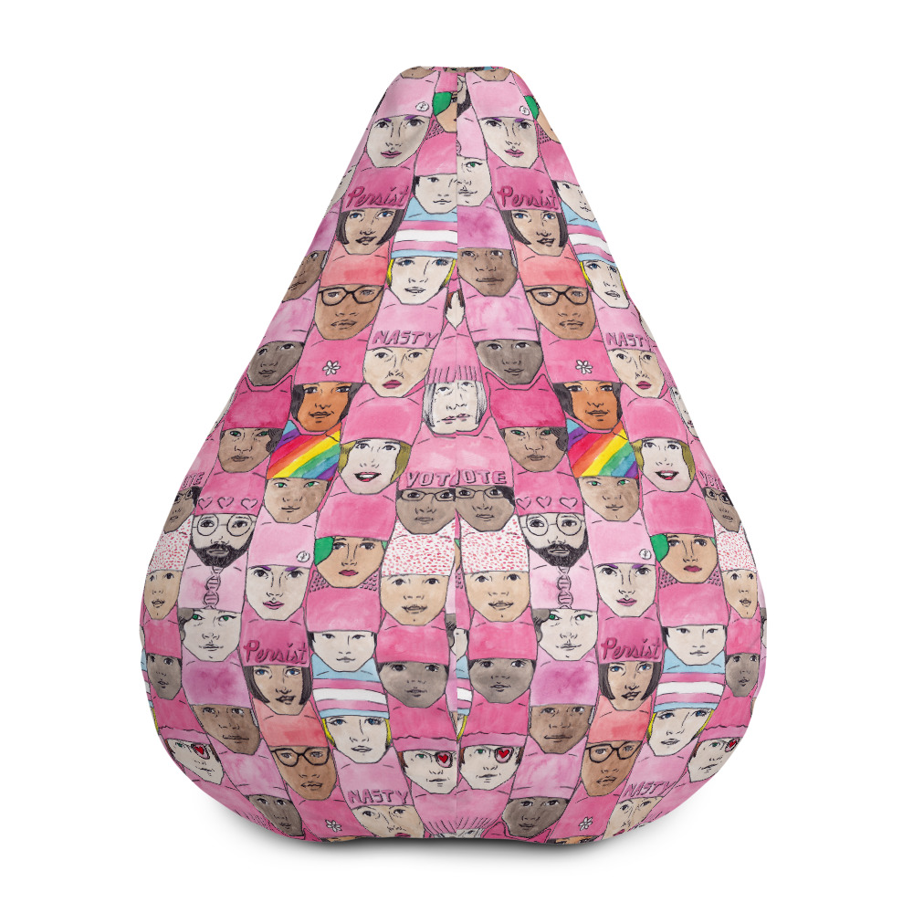 Amazing Womens March Faces Bean Bag Chair W Filling Ibusinesslaw Wood Chair Design Ideas Ibusinesslaworg